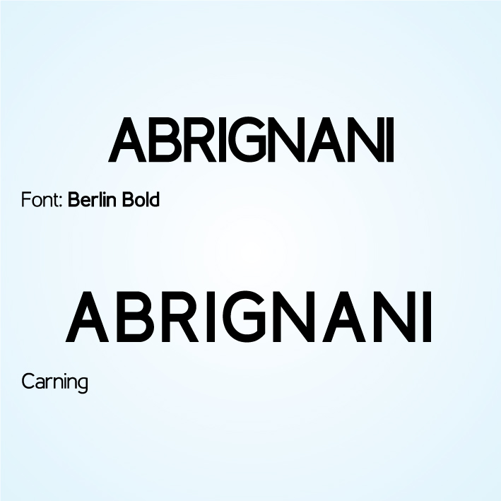 Abrignani Apparecchi Acustici - Lettering