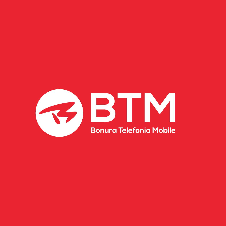 BTM - Logo su fondo rosso