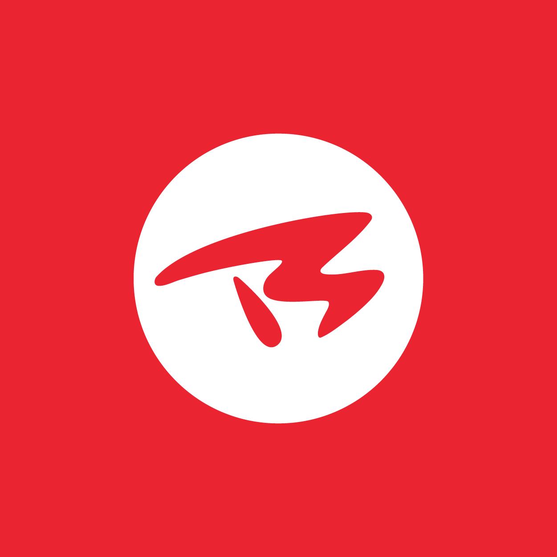 BTM - Monogramma su fondo rosso