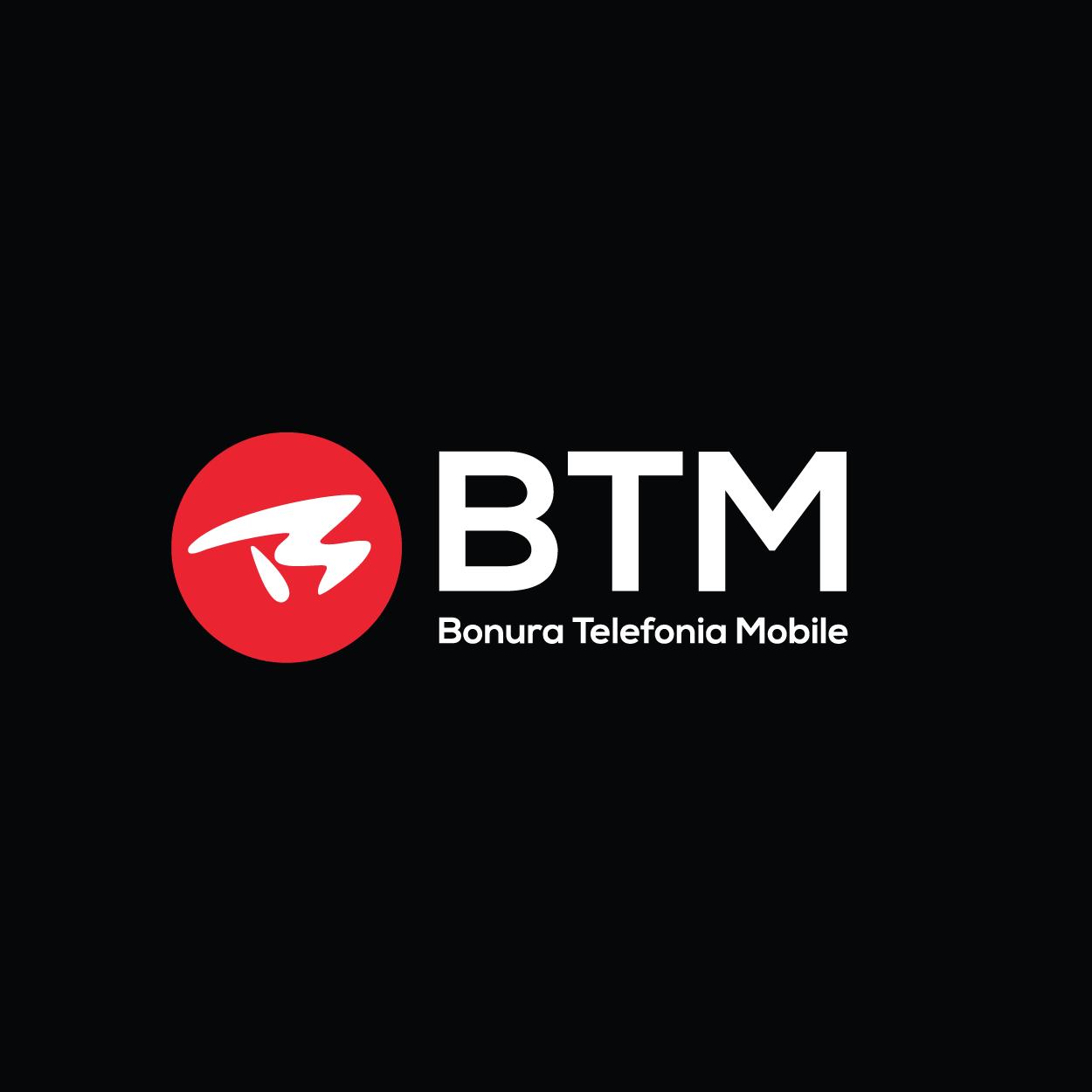 BTM - Logo su fondo nero